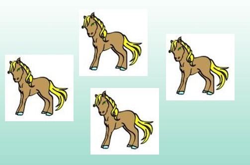 Kindertattoo Motiv Pferd