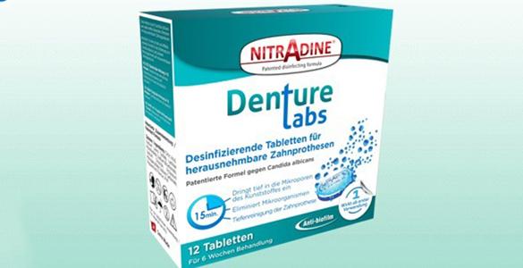 Nitradine Denture (Seniors). Packung mit 12 Tabletten